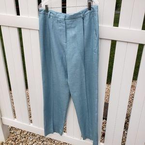 VTG Silk Neiman Marcus Solid Blue Dress Pants